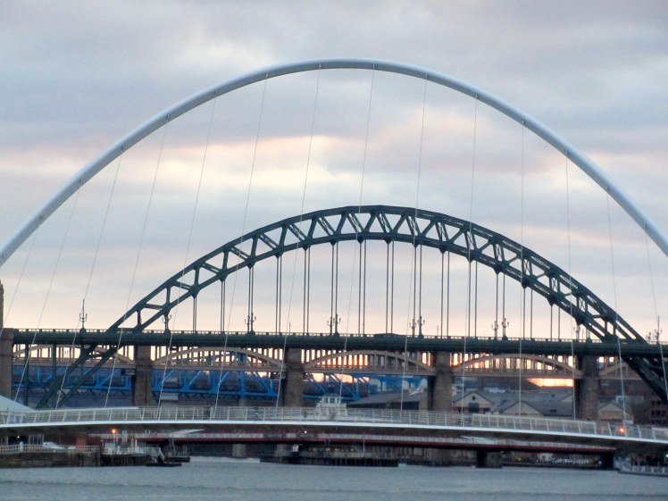 The Bridges of the River Tyne including the Millennium Bridge and the ever famous Tyne Bridge.
