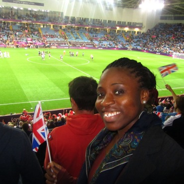Waving my flag as I support Team GB!