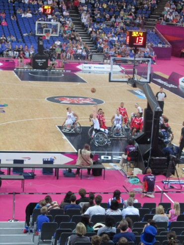 Women's wheelchair basketball was awesome!