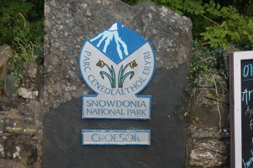 Marking our entrance into Snowdonia National Park