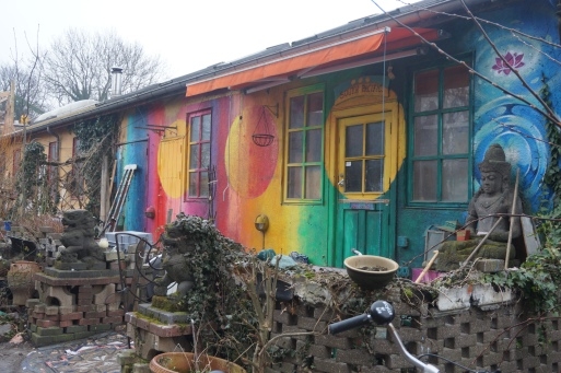 The colourful houses of Christiania