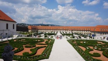 The Baroque gardens of Bratislava Castle