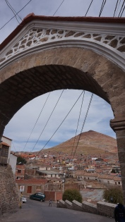 View of Cerro Rico through Arco de Cobija